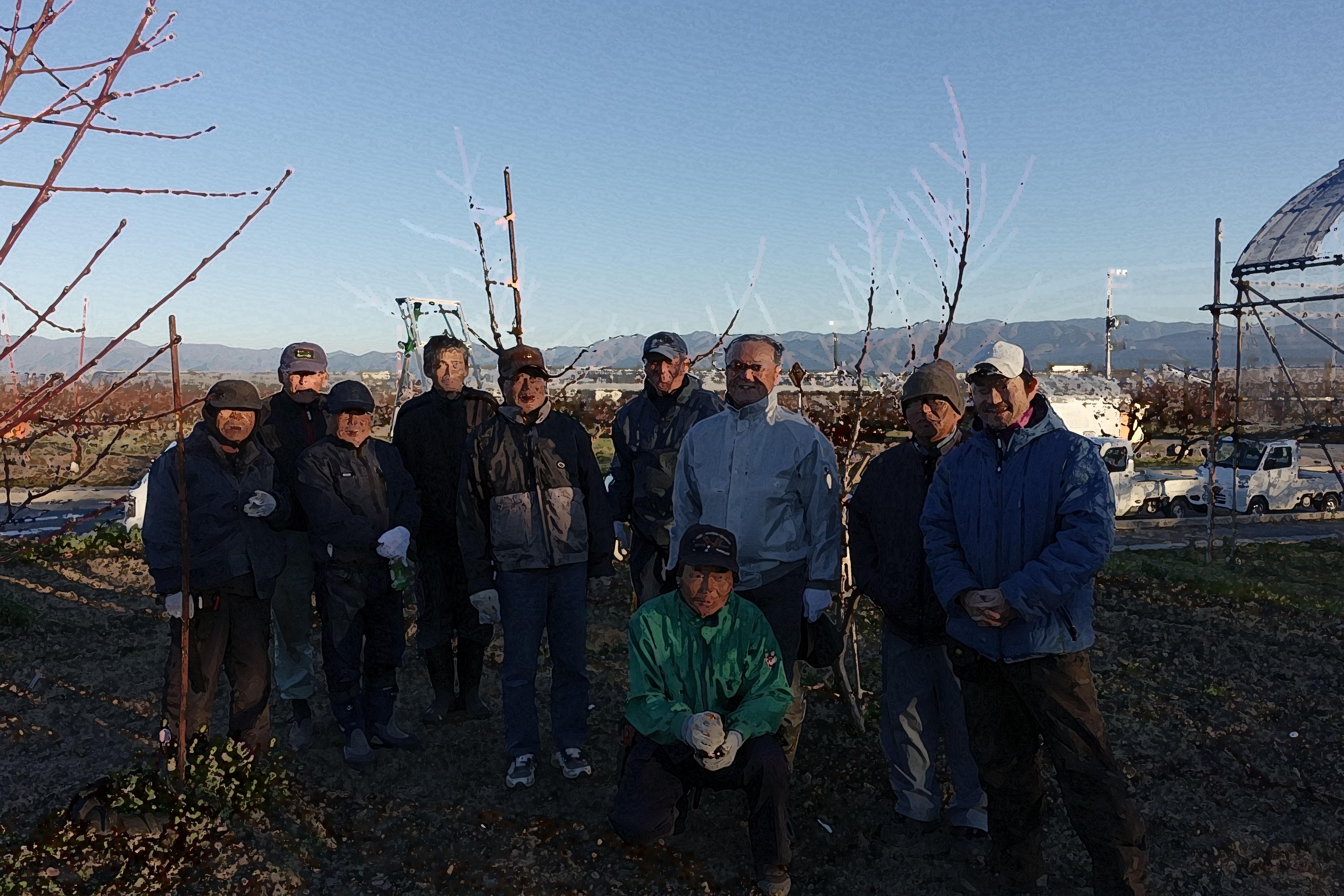 農業研究会で苗木植え付けと冬季剪定を学びました!